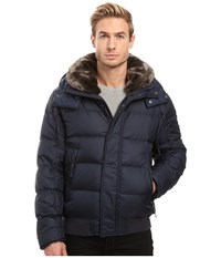 Marc New York Rockingham Down Bomber With Removable Faux Fur Collar And Removable Hood Ink Men's Coat Navy