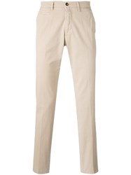 Briglia 1949 Slim Cut Chinos Men Cotton Spandex Elastane 50 Nude Neutrals