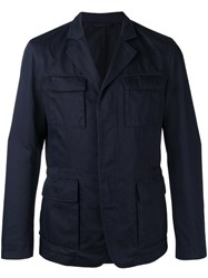Hugo Boss Front Pockets Jacket Blue