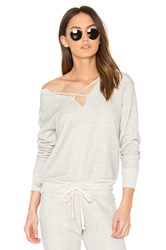 Lna Cross Over Sweatshirt Gray