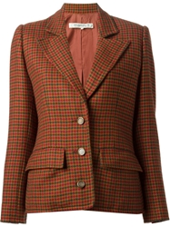 Givenchy Vintage Houndstooth Pattern Jacket Brown