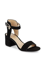 Saks Fifth Avenue Helaine Suede Sandals Black