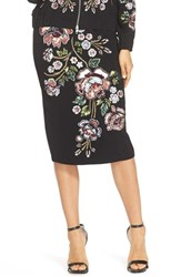 Women's Needle And Thread Sequin Midi Skirt