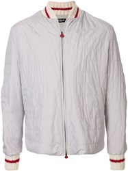 Kiton Quilted Bomber Jacket 60