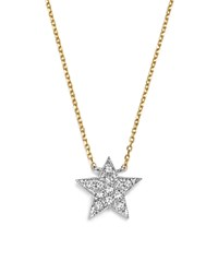 Dana Rebecca Designs Diamond Julianne Himiko Star Necklace In 14K White Gold With 14K Yellow Gold Chain 16