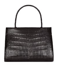 Nancy Gonzalez Small Wallis Crocodile Skin Tote Female Black