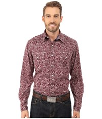 Roper 0033 Red Hot Paisley Red Men's Clothing