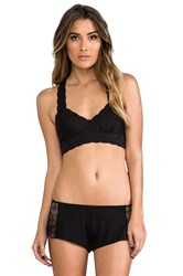 Free People Racerback Crop Bra Black