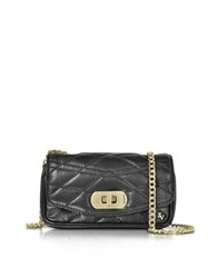 Zadig And Voltaire Black Quilted Leather Skinny Love Clutch