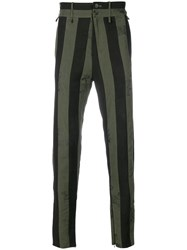 Damir Doma Striped Trousers Green
