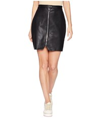 Bishop Young Exposed Zip Mini Skirt Black