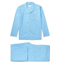 Handvaerk Puppytooth Pima Cotton Pyjama Set Blue