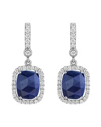 Penny Preville 18K White Gold Diamond And Sapphire Drop Earrings Women's