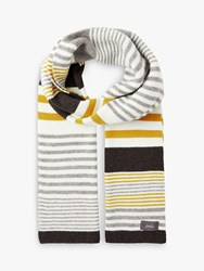 Joules Chill Away Stripe Scarf Grey Marl Multi