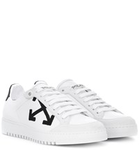 Off White Carryover Leather Sneakers White
