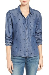 Rails Women's Dana Star Print Chambray Shirt