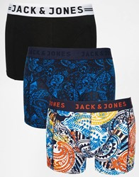 Jack And Jones Jack And Jones 3 Pack Trunks With Paisley Print Multi