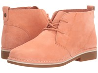 Hush Puppies Cyra Catelyn Peach Suede Women's Lace Up Boots Pink
