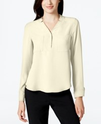 Nine West Long Sleeve Crepe Top Lily