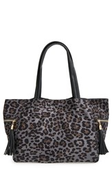 Junior Women's Emperia 'Leo' Animal Print Tote Bag