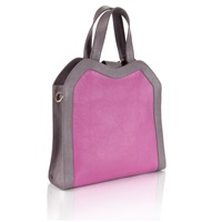 Feather M Wednesday Shopper Pink And Lavender Leather Pink Purple