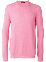 Roberto Collina Ribbed Knit Sweater Pink Purple