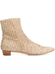 Helmut Lang Vintage Ankle Boots Nude And Neutrals