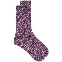Anonymous Ism Line Slub Crew Sock Purple