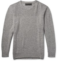 The Elder Statesman Speckle Sea Slub Cashmere Sweater Gray