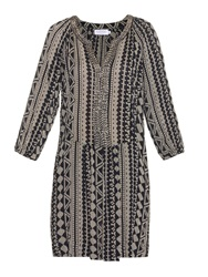 Velvet By Graham And Spencer Tribal Print Seersucker Dress