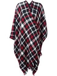 Boutique Moschino Plaid Cape Black