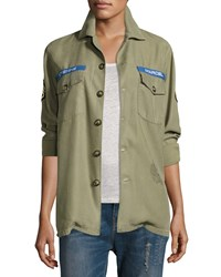 Etienne Marcel Logo Military Army Jacket