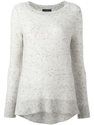 Rag And Bone Ribbed Detail Jumper Grey