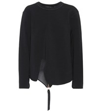 Proenza Schouler Wool And Cotton Sweater Black