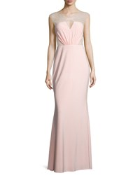 Mignon Cap Sleeve Embellished Inset Gown Pink