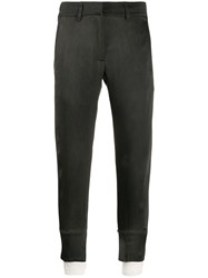 Ann Demeulemeester Straight Fit Crop Trousers 60