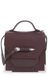 Mackage 'Mini Rubie' Crossbody Satchel Burgundy Bordeaux Shiny Nickel