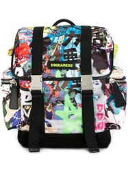Dsquared2 'Donald' Backpack Multicolour