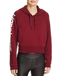 Happiness Crop Hoodie Bordeaux