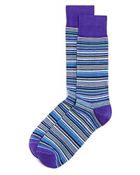 The Men's Store At Bloomingdale's Thin Multistripe Socks Medium Purple