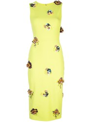 Christian Siriano Embellished Details Dress Green