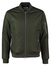Knowledge Cotton Apparel Winter Jacket Forrest Night Dark Green