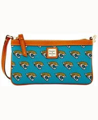 Dooney And Bourke Jacksonville Jaguars Large Wristlet Turquoise