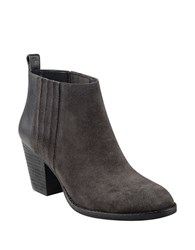 Nine West Fiffi Suede Ankle Length Booties Dark Grey