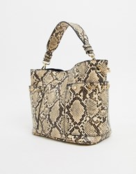 Steve Madden Luxury Cross Body In Snake Print Multi