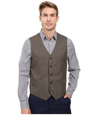 Perry Ellis Regular Fit Pattern Twill Suit Vest Chinchilla Men's Vest Gray