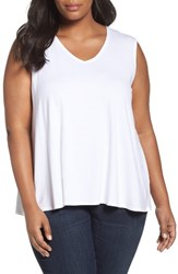 Eileen Fisher Plus Size Women's Jersey Tank White