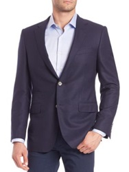 Saks Fifth Avenue Wool Travel Blazer Navy