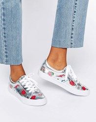 Asos Date Patchwork Trainers Silver