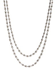 Lucky Brand Two Tone Double Layer Necklace Gold